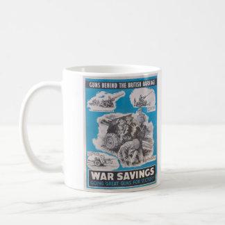 Neuauflage des britischen Kriegsplakats Kaffeetasse