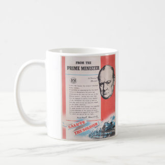 Neuauflage des britischen Kriegsplakats Tasse