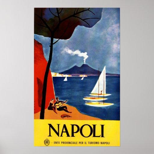 Neuauflage eines Vintagen italienischen Tourismus- Plakat