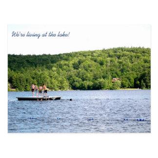 Neue Adresse an der See-beweglichen Mitteilung Postkarte
