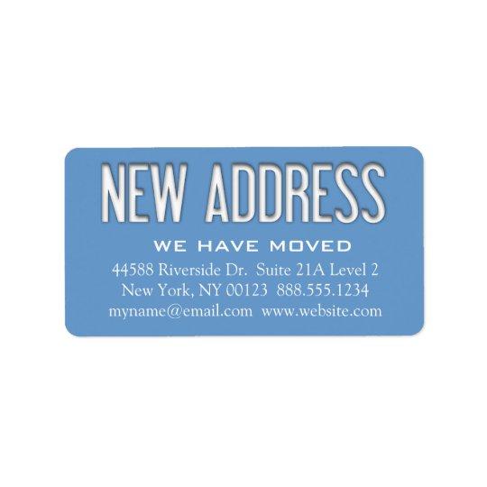 """""""Neue Adressen-"""" Änderungs-Mitteilungs-Aufkleber Adressaufkleber"""