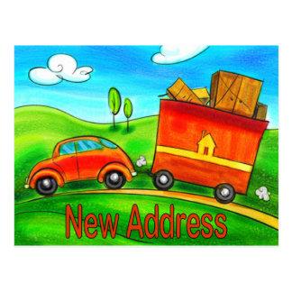 Neue Adressen-Postkarte Postkarte