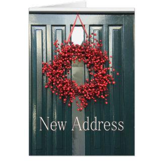 Neue Adressen-Weihnachtskarte Karte