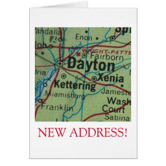 Neue Adressenmitteilung Daytons Karte