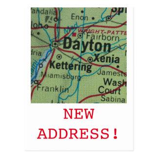 Neue Adressenmitteilung Daytons Postkarte