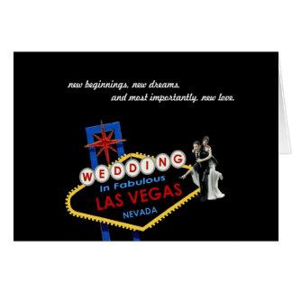 Neue Anfänge, Wedding in Las Vegas-Karte Grußkarte