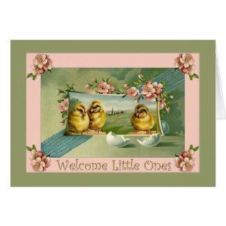 Neue Babys, Dreiergruppen, Willkommen zur Welt Grußkarte