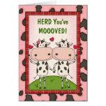 Neue Bewegungs-Glückwünsche - Kühe Grußkarten