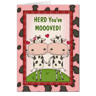 Neue Bewegungs-Glückwünsche - Kühe Karte