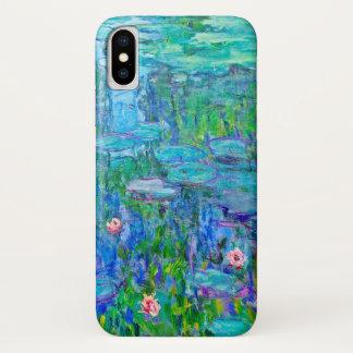 Neue blaues Wasser-Lilien-Teich Monet schöne Kunst iPhone X Hülle