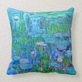 Neue blaues Wasser-Lilien-Teich Monet schöne Kunst Kissen