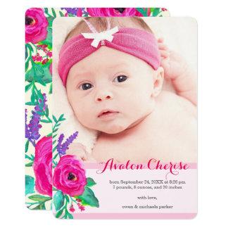 Neue BlumenFoto-Geburts-Mitteilung 12,7 X 17,8 Cm Einladungskarte