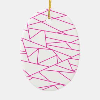 Neue Designer Acryclic Verzierung/Rosa! Ovales Keramik Ornament