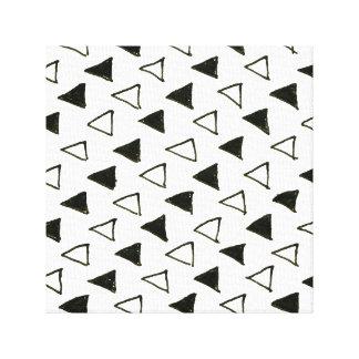 Neue Designer-Leinwand: Schwarz-weiße Dreiecke Leinwanddruck