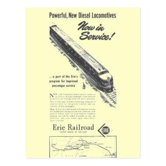 Neue Diesellokomotiven Erie-Eisenbahn-1948 Postkarten
