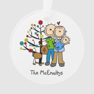 Neue Eltern einer Baby-und Hundeverzierung Ornament