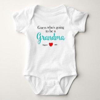 Neue Großmutter-Schwangerschafts-Mitteilung Baby Strampler