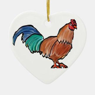 Neue Hahn-Verzierung Keramik Herz-Ornament