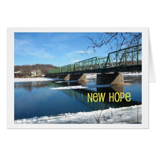 Neue Hoffnung Lambertville Brücke im Winter Karte