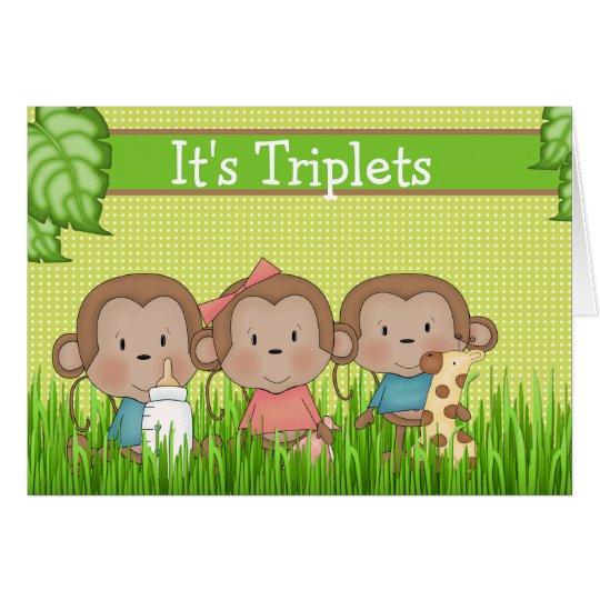 Neue Jungen der Baby-Dreiergruppe-zwei ein Karte