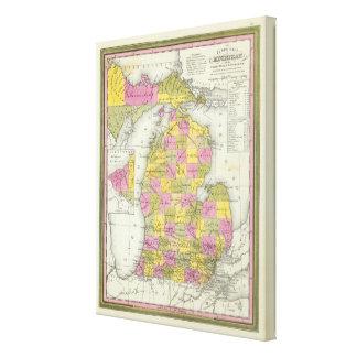 Neue Karte von Michigan 2 Gespannter Galerie Druck