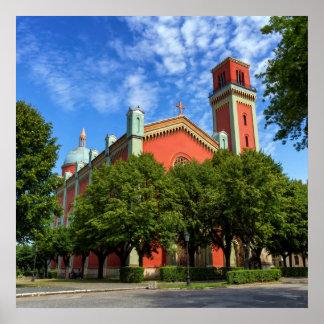 Neue lutherische Kirche in Kezmarok, Slowakei Poster