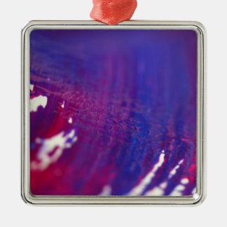 Neue magische Designer Weihnachtsverzierung Quadratisches Silberfarbenes Ornament
