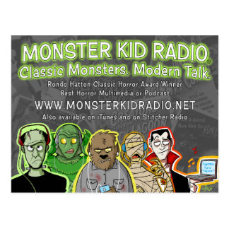 Neue Monster-Kinderradio-Karte Postkarte