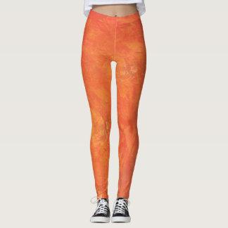 Neue Orangen-Digital-Überlagerungs-Kunst Leggings