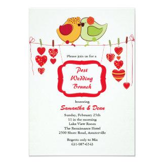 Neue Paare - Posten-Hochzeits-Brunch-Einladung 12,7 X 17,8 Cm Einladungskarte