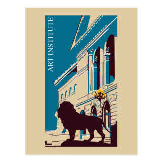 Neue Retro Kunstinstitut Chicago-Werbung Postkarte