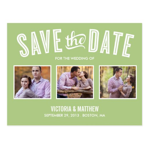NEUE RETRO %PIPE% SAVE THE DATE MITTEILUNG POSTKARTE