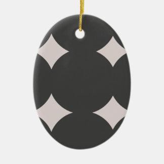 Neue stilvolle Verzierung im Geschäft Ovales Keramik Ornament