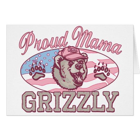 Neue stolze Mutter Grizzly Grußkarte