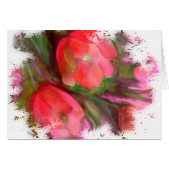Neue Tulpen Grußkarte