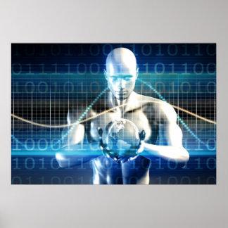 Neue zukünftige Technologie innerhalb der Palme Poster
