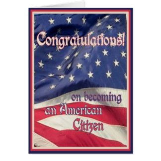 Neuer amerikanischer Staatsbürger Grußkarte