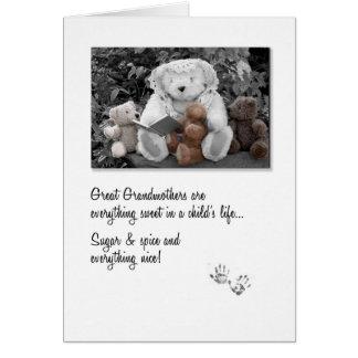 Neuer großer Großmutter-Teddybär Storytime Karte