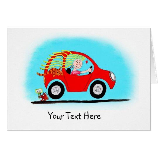 Neuer Mädchen-Fahrer-kundengerechte Karte