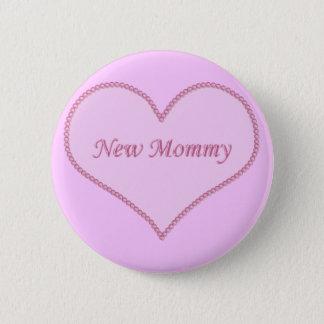 Neuer Mama-Knopf, rosa Runder Button 5,7 Cm