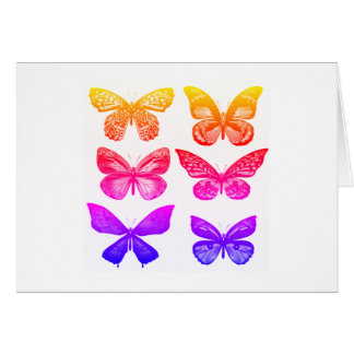 Neuer Mode Schmetterlings-Entwurfsgruß Karte