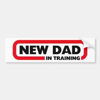 Neuer Vati im Training - lustiger Autoaufkleber