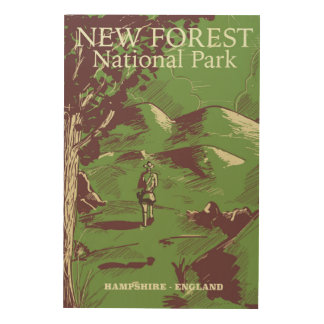 Neuer Wald, Hampshire, England Holzleinwände