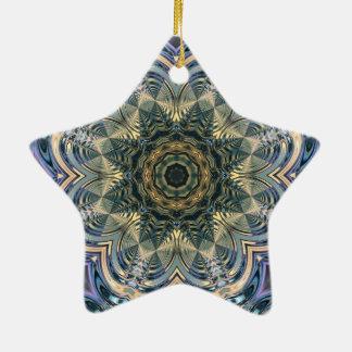 Neues Alters-böhmisches Yogablauer lila Mandala Keramik Ornament