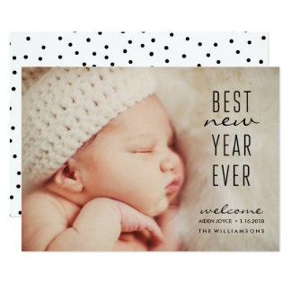 Neues Baby-bestes neues Jahr-überhaupt modernes 12,7 X 17,8 Cm Einladungskarte