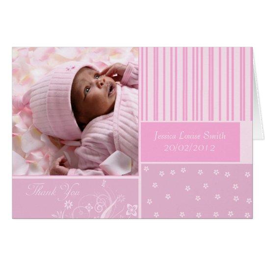 neues Baby danken Ihnen Fotogrußkarte Grußkarte