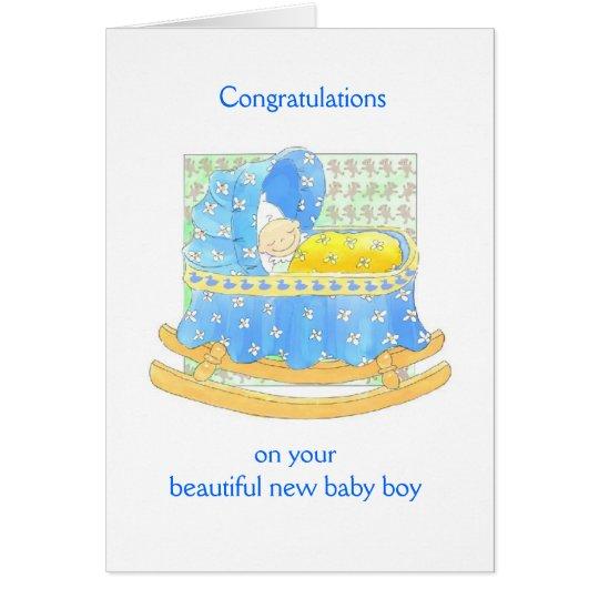 Neues Baby Grußkarte