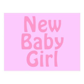 Neues Baby. Hübsches Rosa. Gewohnheit Postkarte
