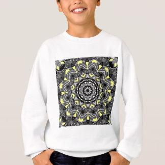 Neues graues und gelbes kariertes Kaleidoskop Sweatshirt