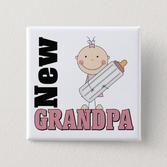 Neues Großvater-Geschenk Quadratischer Button 5,1 Cm